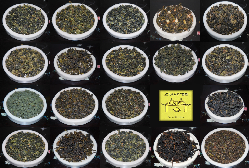 Teas from Northern Thailand: Close-ups collage