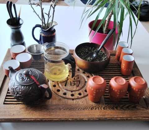 Gong Fu Cha Setup 4, Chinese Tea Ceremony, First Infusion 3