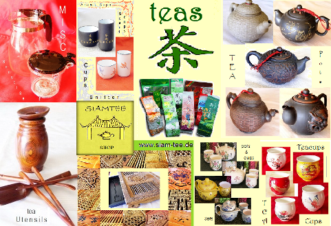 Siam Teas Shop, collage