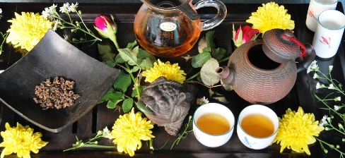 Doi Mae Salong Shi Er Black Pearls celebration, Gong Fu Cha tea ceremony style