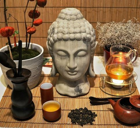 DMS Si Ji Chun Four Seasons Oolong Tee, mit Buddha