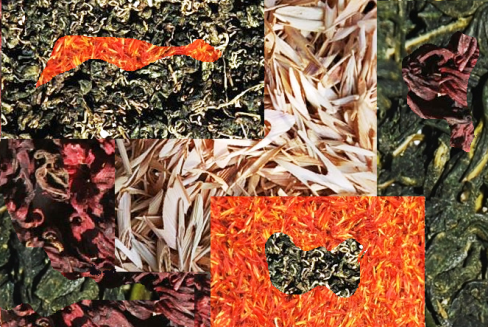 Herbal Teas /Infusions from Thailand - Collage