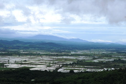 Panoramic view of north Thailand, landscape near Tea Master School venue Doi Mae Salong