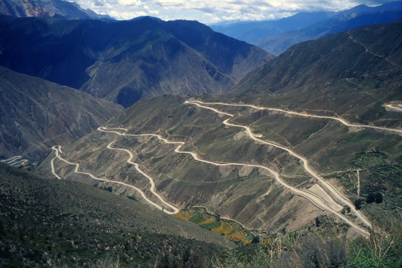 "The Sichuan-Tibet ""Highway"", part of the ancient Tea Road from Yunnan to Tibet"