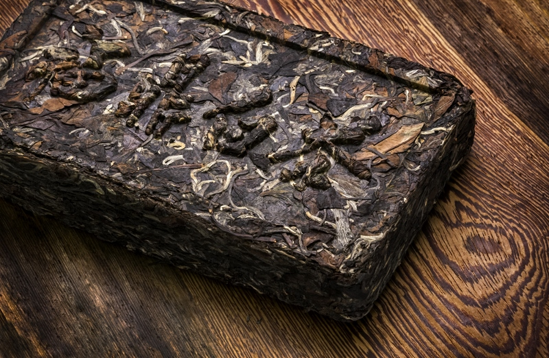 Pu Erh tea brick, optimally suitable for the transport on the tea horse road